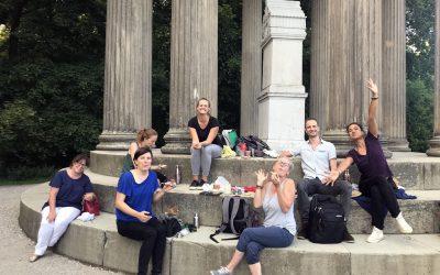 Gruppe in Nymphenburgerpark